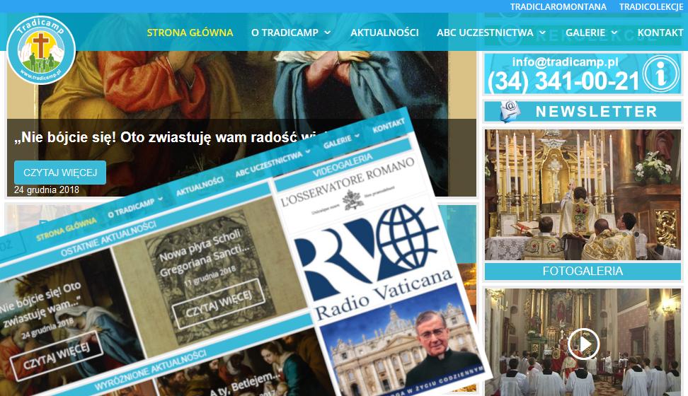 Strona www.tradicamp.pl.
