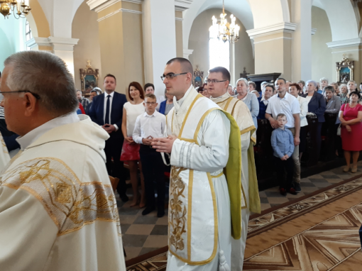 Święcenia kapłańskie ks. Mateusza Szostaka.